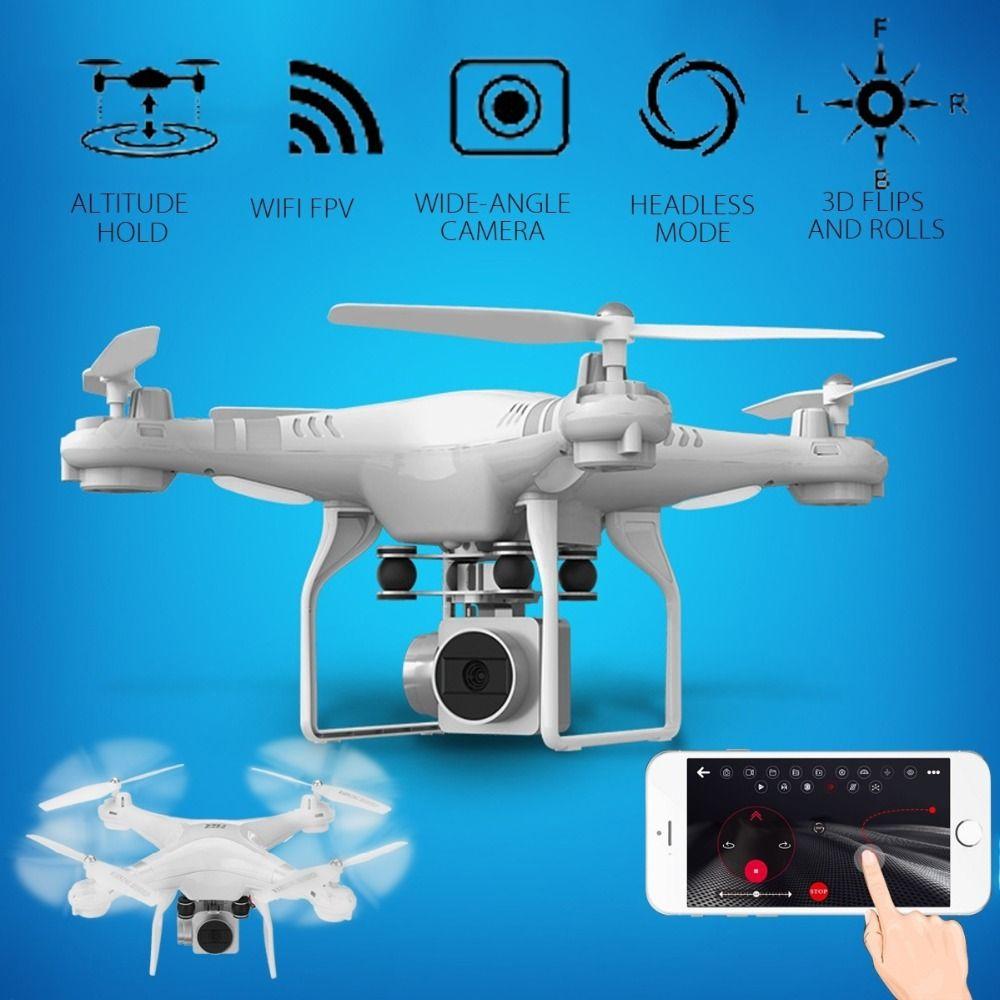Lensoul Drone 4 Kanal 2,4 GHz 2MP HD kamera Led-beleuchtung 6-achsen-gyro 360 grad Rollen Quadcopter APP Set Höhe fernbedienung UAV