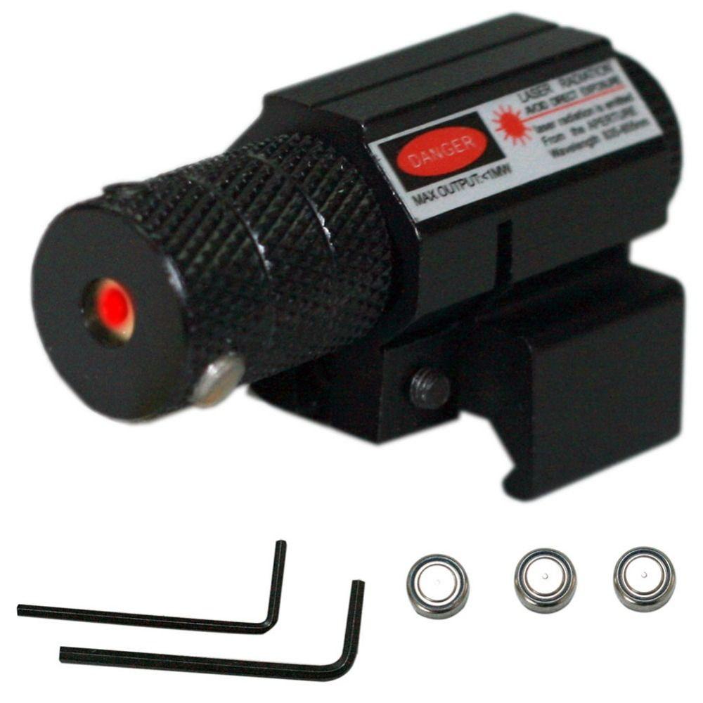 Tactical mini punto rojo láser 1 MW potente Vista de láser de aluminio set alcance batería nueva llegada VEC73 T15 0.3