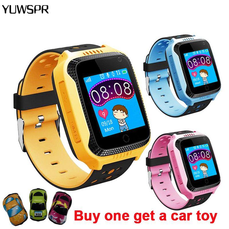 Enfants montres tracker montre SOS appel Position lampe de poche caméra enfants montres avec cadeaux Q528 Y21 enfants horloge