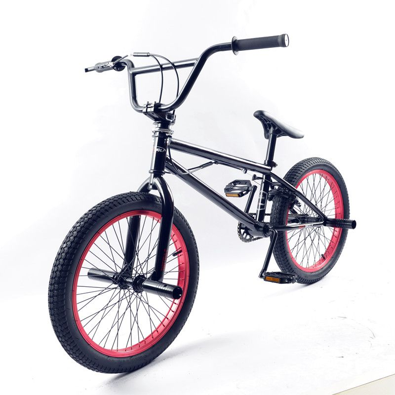 BMX bike steel frame, 20 inch men's freestyle show, own street corner extreme stunt, mountain bike rear brake, V bike stunt acti