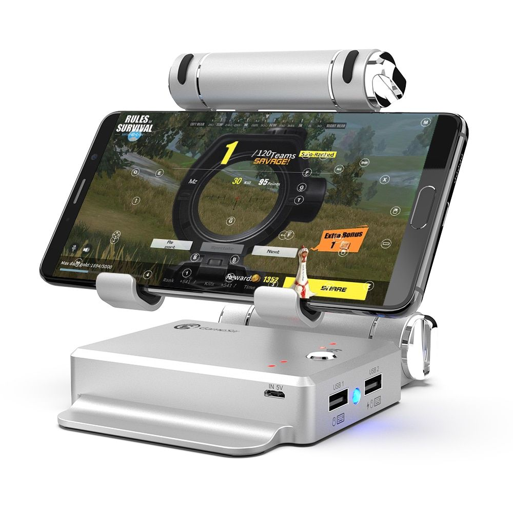 GameSir X1 BattleDock <font><b>Converter</b></font> Stand Docking for PUBG, FPS games, Using with keyboard and mouse, Portable Phone Holder
