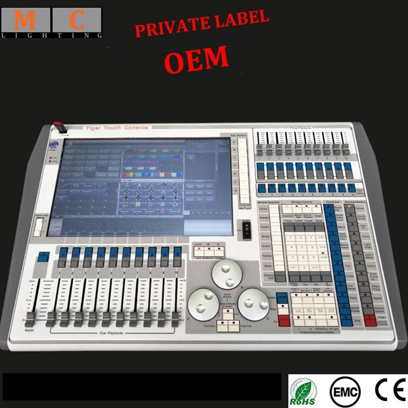 Tiger touch V9.1 V10.1 V11 licht controller dmx 512 konsole mit flycase