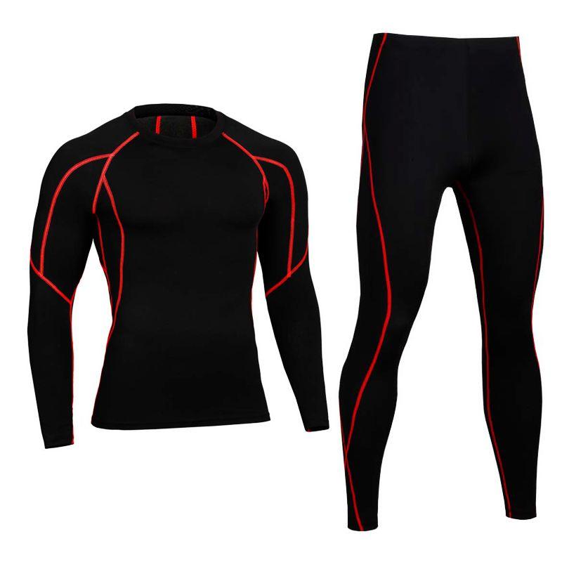 Для мужчин Pro сжатия Кальсоны для женщин Фитнес зимние комплекты термобелья быстросохнущая gymming мужской Демисезонный спортивных работает ...
