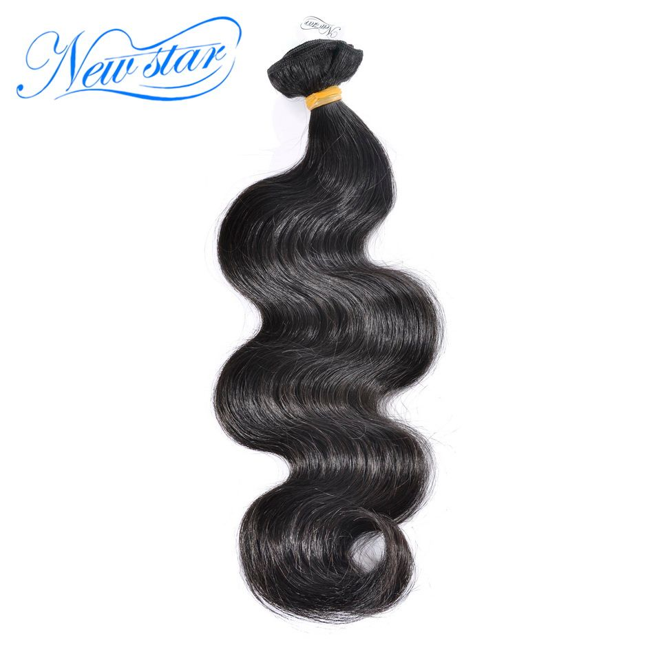 New Star Virgin Hair Weaving Peruvian Body Wave 1 Piece 100% Unprocessed Thick <font><b>Human</b></font> Hair Weft Long Inch 10- 34 Bundles
