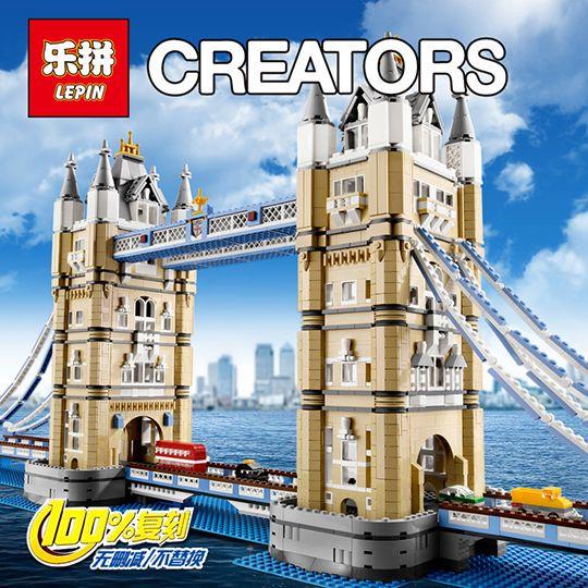 2018 New Lepin 17004 4295pcs London bridge Model Building Kits Brick lepin DIY Toys Compatible 10214 for kids gift toys