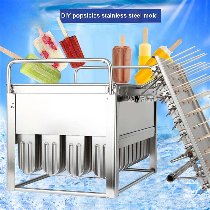 DIY Popsicle Yogurt Ice Cream Mold Ice Cube Freezer Frozen Food Popsicles Molds Stainless Steel 40 Branches Ice Iolly Maker