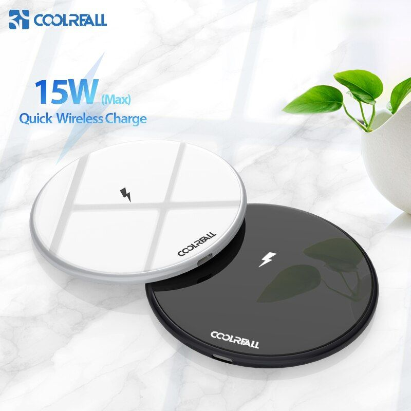 Coolreall 15 W Qi chargeur sans fil pour Samsung S9 S10 iPhone X XS MAX XR 8 Plus pour Xiaomi 9 Huawei P20 pro 10 W charge sans fil