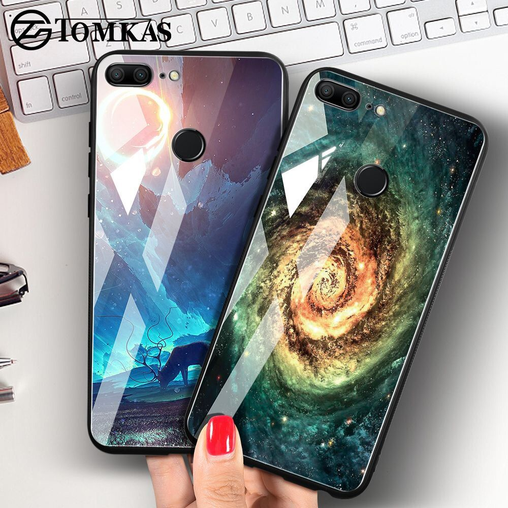 TOMKAS Space Case For Huawei P20 Lite Pro Mate 10 Lite Cases Cover P Smart Glass Coque Phone Case on for Huawei Honor 9 Lite 10