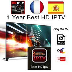 1 Année Arabe Français ROYAUME-UNI Europe IPTV Italie 2500 + Canaux pour Android USB Wifi TV Box
