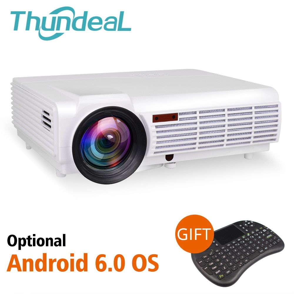ThundeaL LED96 LED96W Projector Android WiFi Optional 3D Home Theater Full HD Support 1080P HDMI Smart Beamer LED96+ BT96Plus