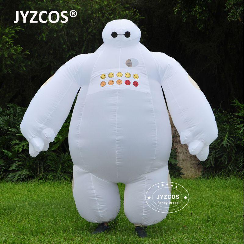 JYZCOS Purim Halloween Inflatable costume Big Hero 6 Baymax <font><b>Party</b></font> Cosplay costume for men women adult baymax Mascot Fancy Dress