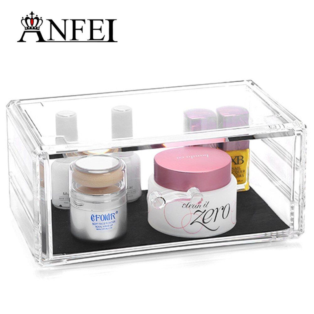 WEIAI Wholesale Cosmetic Case With Drawer Acrylic Makeup Organizer Sunscreen And Lotion Case Jewelry And Cosmetic Storage