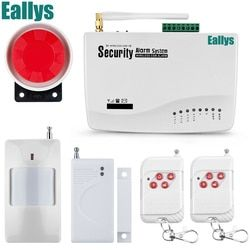 Wireless wire GSM Alarm System Antenna Alarm Systems Security Home Wireless Signal 850/900/1800/1900MHz support Russian/English