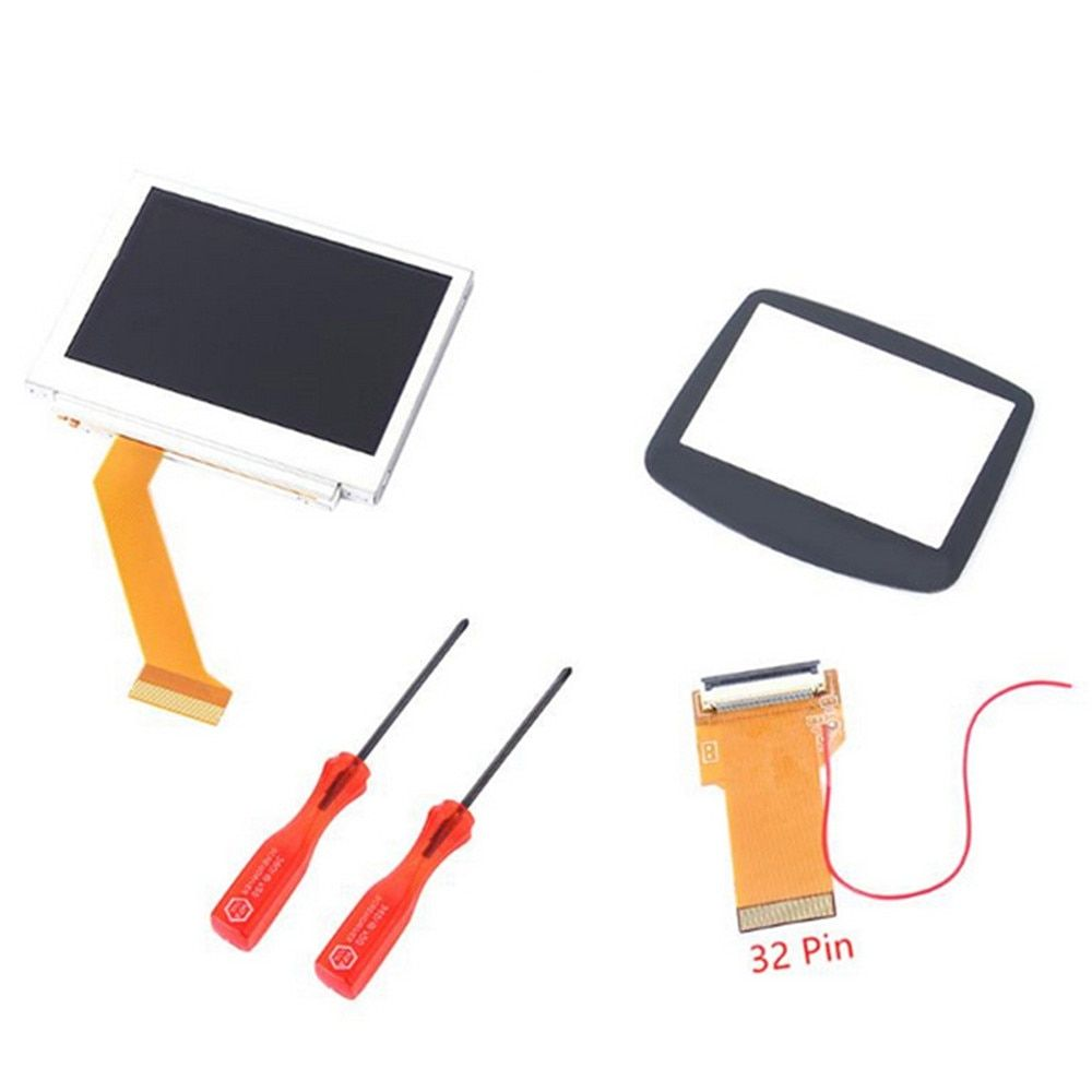 Replacement parts 32 Pin or 40 Pin for GameBoy Advance GBA SP AGS-101 MOD LCD Backlight Kit Cable adapter Glass Screen Cover