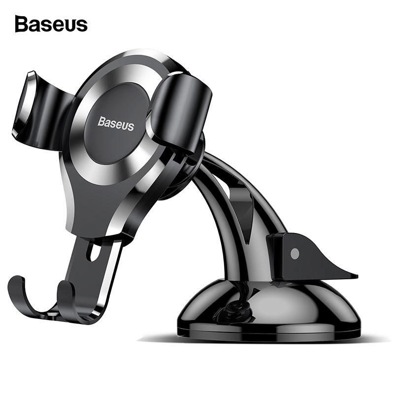 Support pour téléphone de voiture Baseus gravité pour iPhone X Samsung S10 ventouse support socle voiture pour téléphone en support de téléphone portable pour voiture