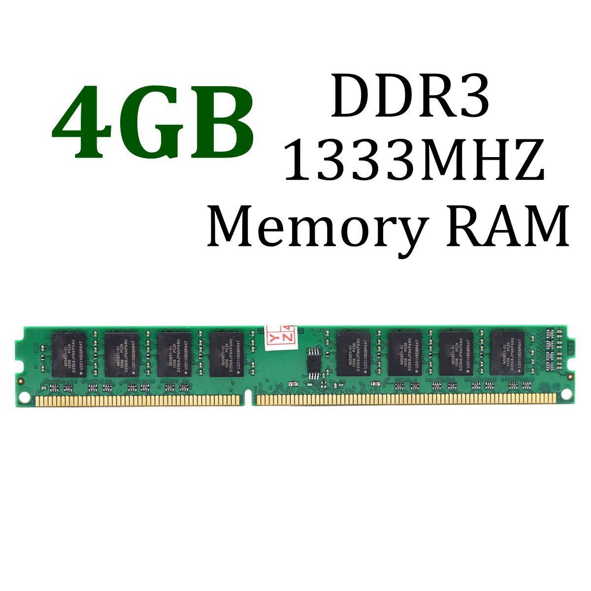 1PC 4GB DDR3 PC3-10600 DDR3-1333 MHZ 240-Pin Desktop PC DIMM Memory 1.5V Module New Electric Board