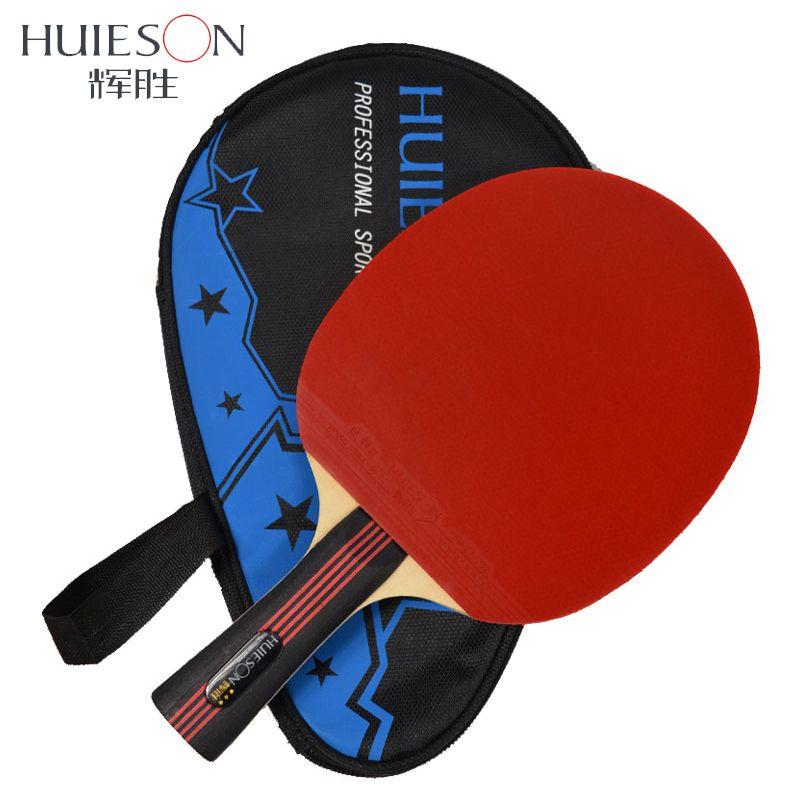 Huieson 3 звезды Настольный теннис ракетки прыщи-в резиновая Настольный теннис Bat пинг-понг с мешком для детей Одежда высшего качества Лидер про...