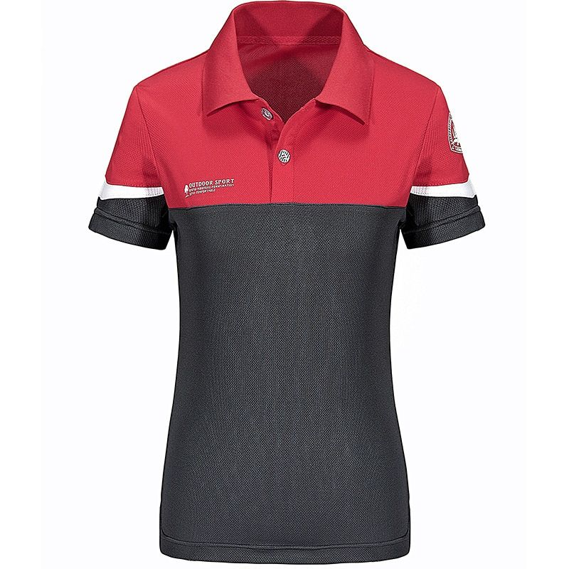 Fashion Woman Short Sleeve Polos Mujer Summer Outdoors  Fitness Lapel Polo Shirt Women Breathable Quick Dry Casual Camisetas