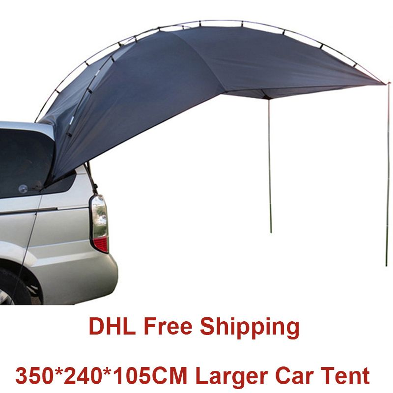 Outdoor Camping Tent For Car Anti-UV Garden Fishing Canopy Waterproof Travel Car Tent Awning Picnic Large Sun Shelter Beach Tent