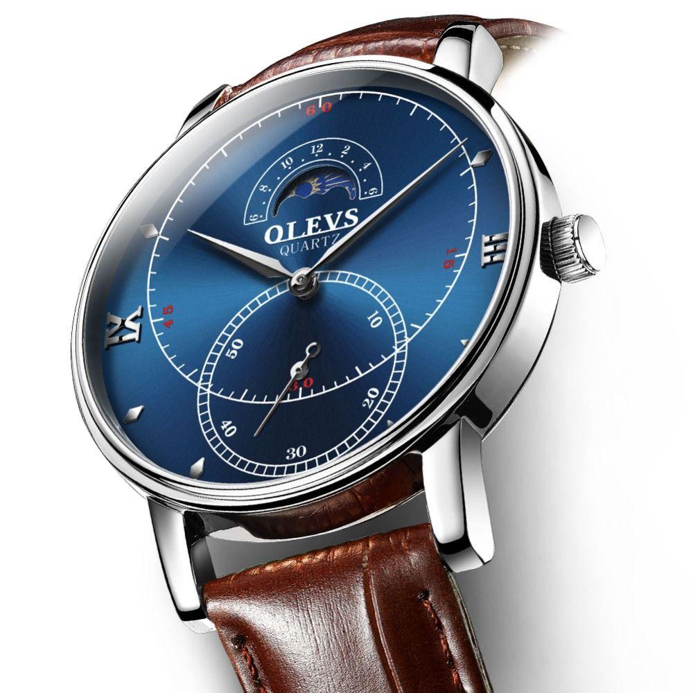 Ultra thin Mens Watches Quartz Automatic Date Watch Men Brand Luxury Leather Watches Male Business Wrist Watch erkek kol saati