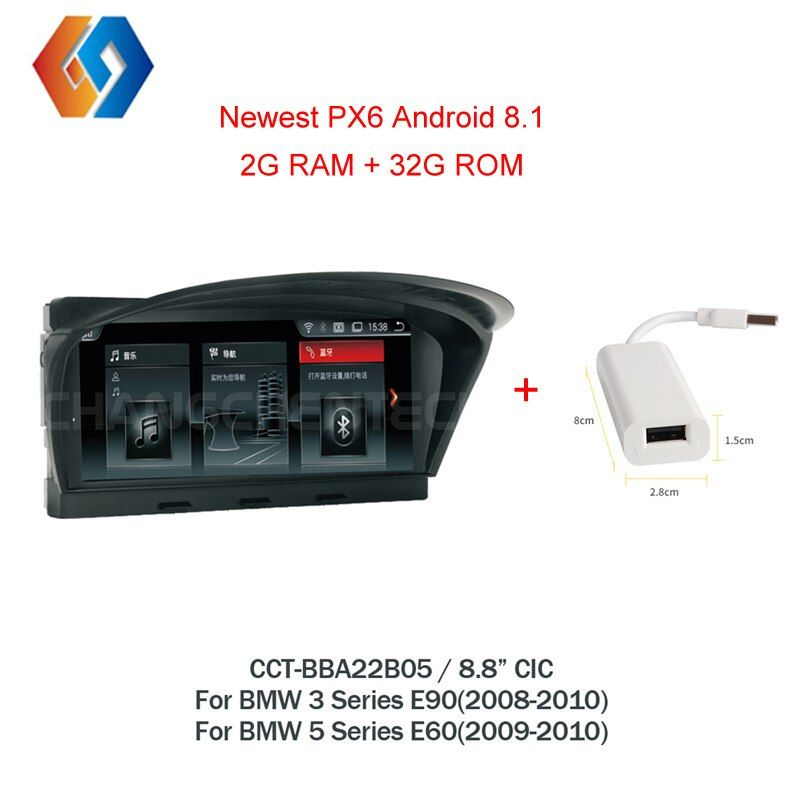 Für BMW E60 E90 Android 8.1 Auto Multimedia GPS Navigation WiFi BT Multi-punkt Touchscreen Telefon Spiegel CIC System nav Einheit 5