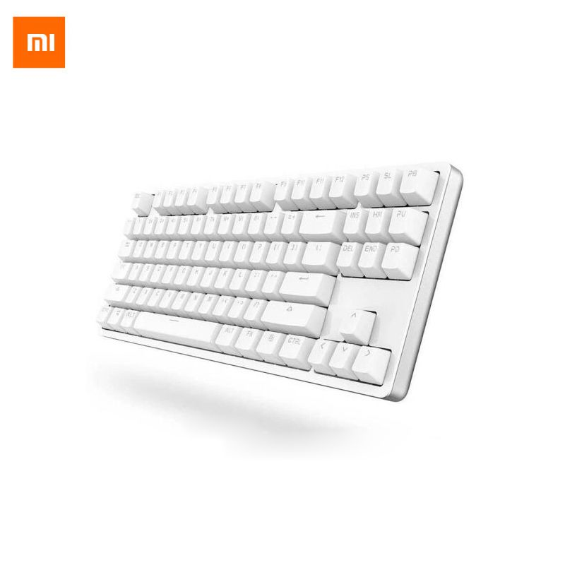 Xiaomi Keyboard Yuemi 87 Keys <font><b>Mechanical</b></font> LED TTC Red Switch Backlight Game Keyboard Backlit Aluminium Alloy For Gamer Laptop