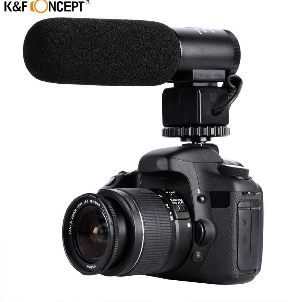 K & F CONCEPT Professionnel DSLR Caméra Microphone D'entrevue De Poche Filaire Mic Pour Nikon Canon Record Vidéo Studio Caméscope