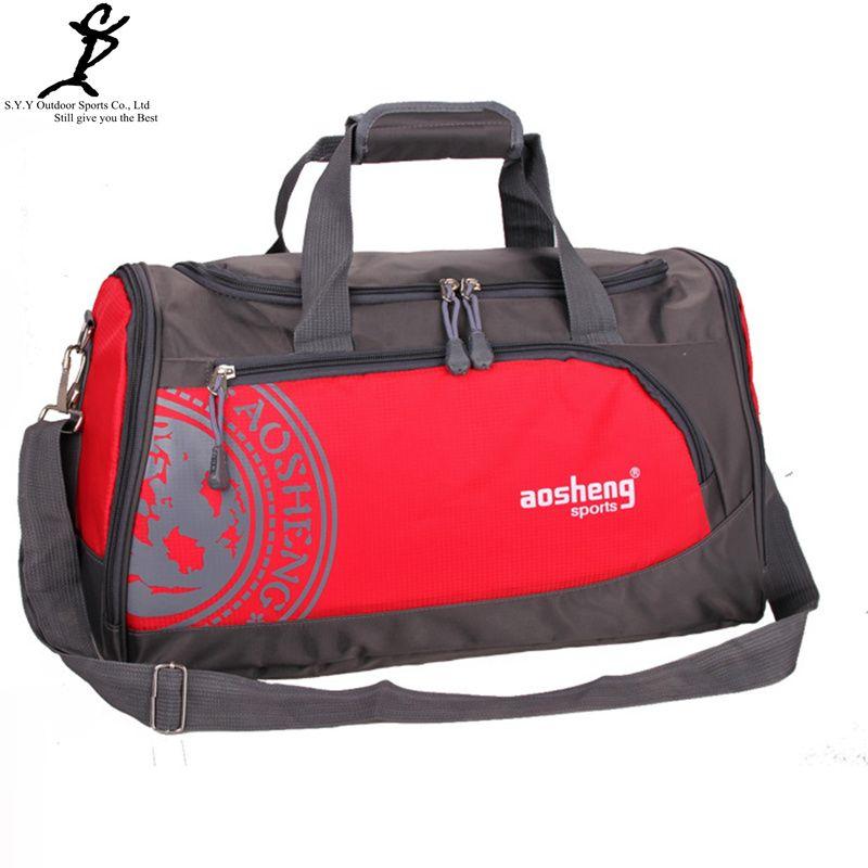 AOSHENG Nylon Outdoor Male Sport Bag Professional Men And Women Fitness Shoulder Gym Bag Hot Training Female Yoga Duffel Bag
