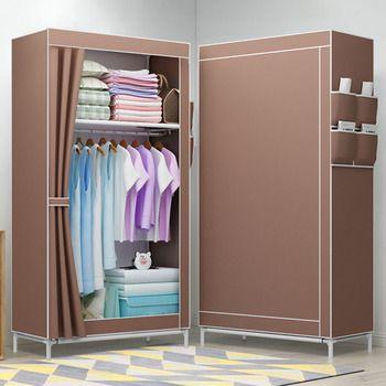 بسيط مطوية الطلاب صغيرة خزانة مزيج DIY الجمعية خزانة واحدة خزانة ملابس مجلس الوزراء الغبار القماش خزانة
