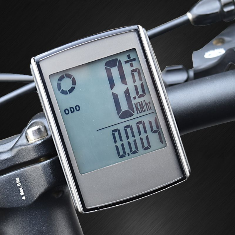 Waterproof Wireless Bike Computer Cycling Bicycle <font><b>Speedometer</b></font> with Cadence and Heart Rate Monitor