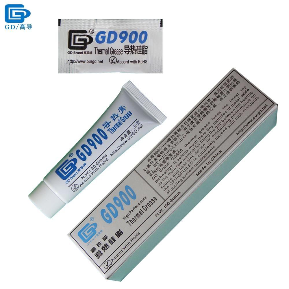GD900 pâte à graisse conductrice thermique Silicone plâtre dissipateur de chaleur composé haute Performance gris pour CPU ST30 ST100 MB05