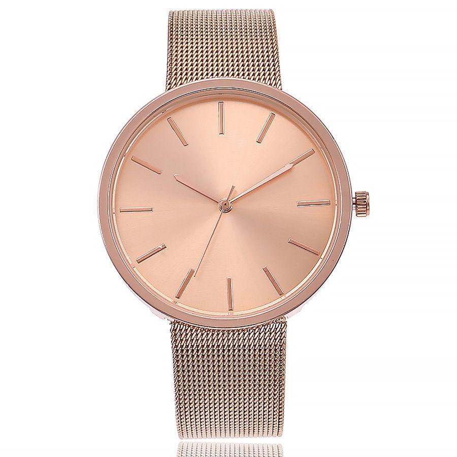 Doreen Box кварцевые наручные часы розовое золото цвет сетчатый ремешок Круглый Мода для женщин батарея включены 22 см (8 5/8