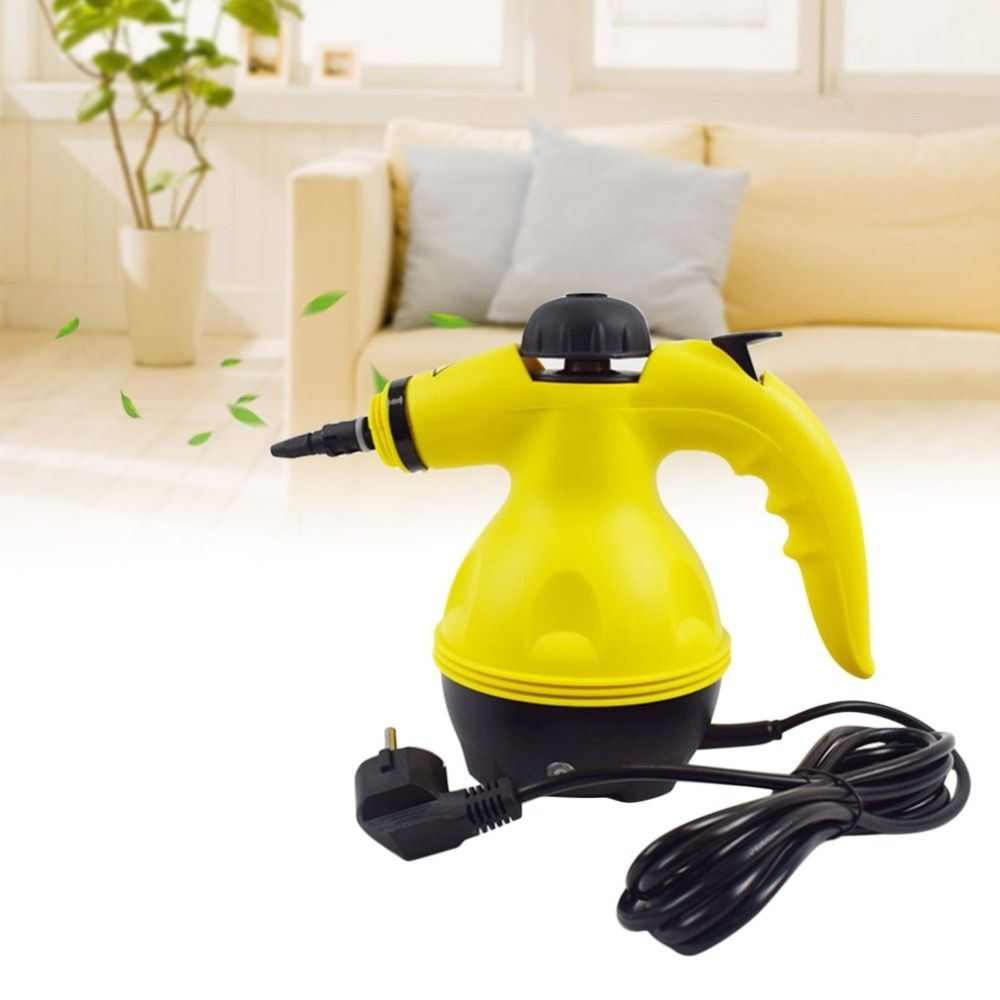 800W Electric Steam Cleaner Portable Handheld Steamer Household Cleaner Attachments Kitchen Brush Tool Long Spray Cup with Nozzl