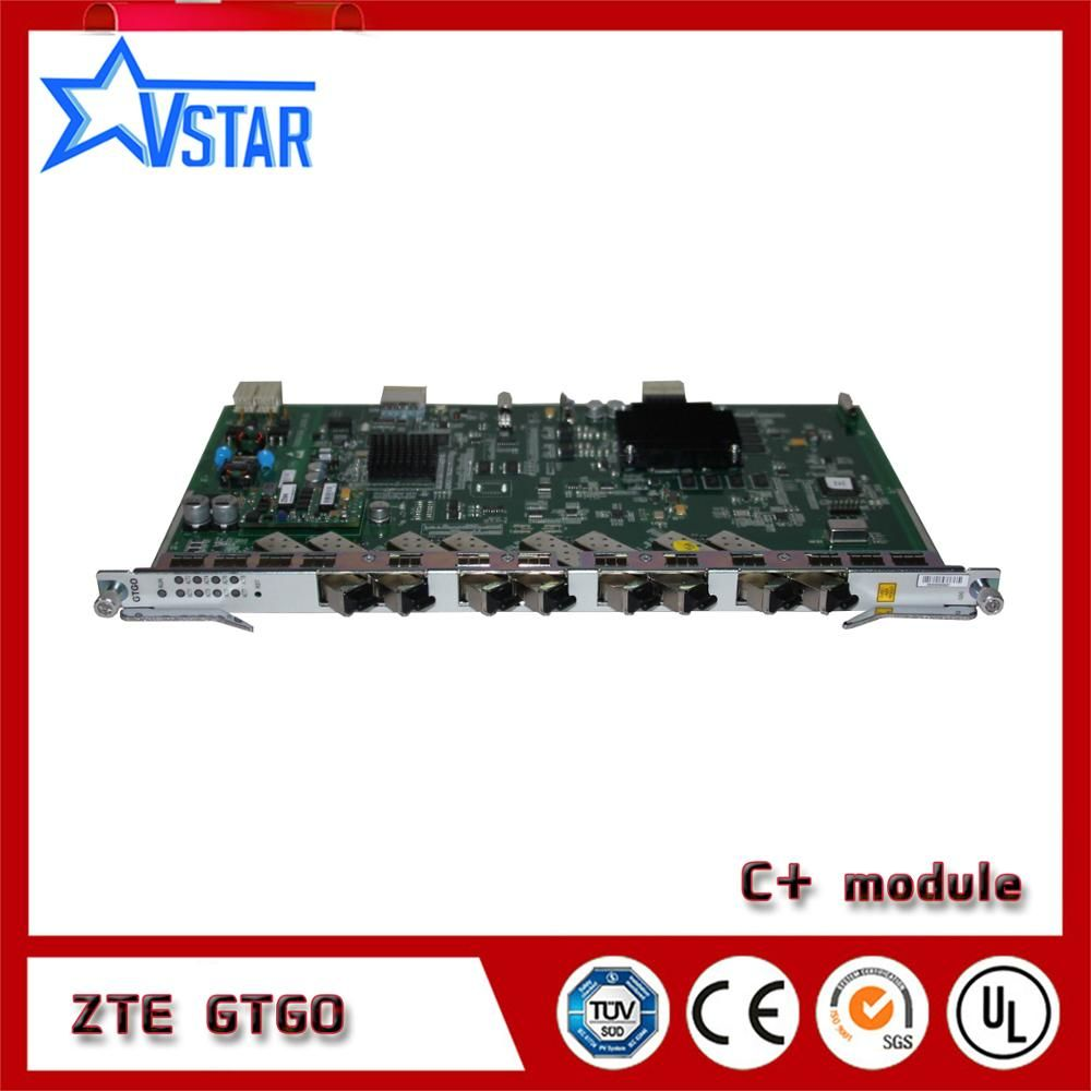 ZTE GTGO 8 port board with 8 pcs C+SFP modules used for ZXA10 C300 C320 GPON OLT