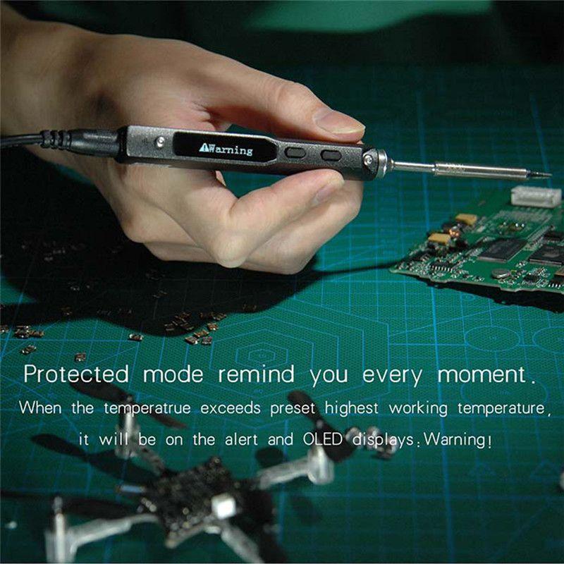 TS100 Pointe Oscilloscope Électrique Fer À Souder USB Mini Interne-chauffage À Souder Station Intelligent Commande numérique