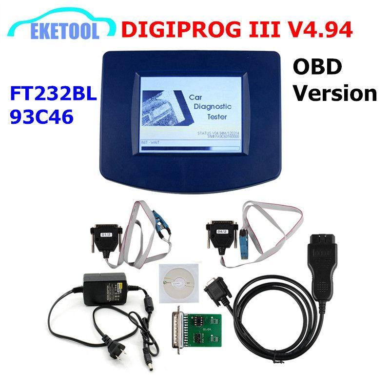 DIGIPROG III V4.94 OBD Version Entfernungsmesser-programmierer Digiprog 3 Laufleistung Richtige Digiprog3 OBD FT232BL & 93C46 DIGIPROG OBD ST01 ST04