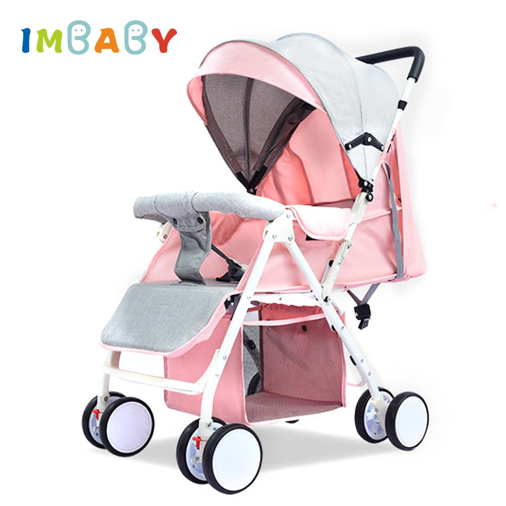 IMBABY Lightweight Baby Stroller Folding High Landscape Stroller 4.2KG Baby Carriages Baby Pram For Newborns Big Sleeping Basket