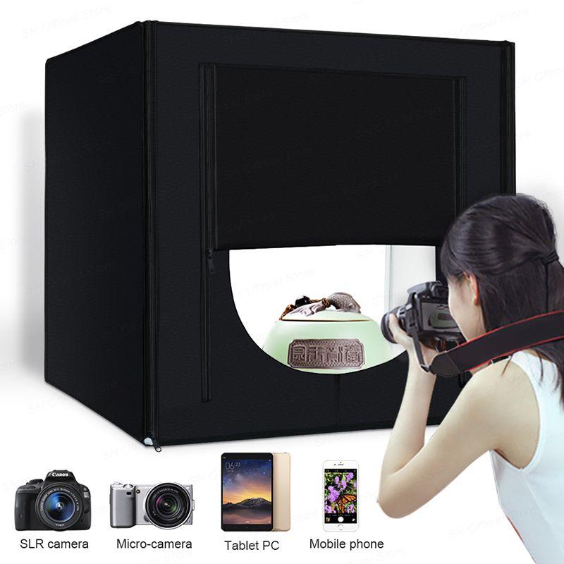 Lightbox Studio Photo Light Box Photography Softbox 160 LED Lamp Portable Folding Studio Tabletop Shooting Tent Box Kit 80cm 32'