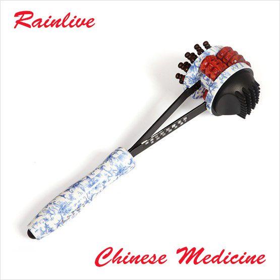 Rouleau de massage marteau bois bâton santé marteau massage du dos bâton meridiarns marteau bâton de massage dispositif