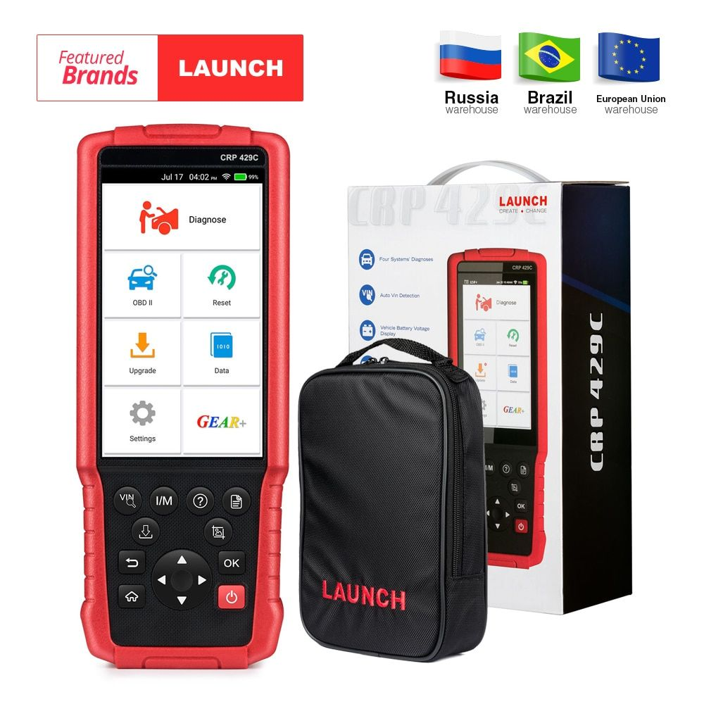 LAUNCH X431 CRP429C Auto Diagnostic tool for Engine/ABS/SRS/AT+11Service CRP 429C OBD2 code reader PK CRP129 CRP429 Creader 9081