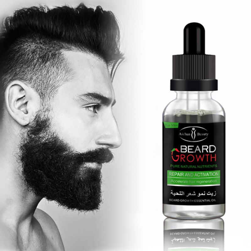 100% Natural Organic Beard Oil Hair Loss Products Leave-In Conditioner for Groomed Beard Growth Oils USA Free Shipping