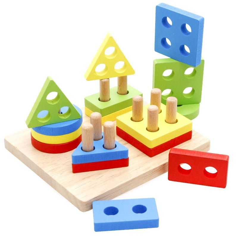 Simingyou Wooden Toys Children Educational Puzzle Geometry Shape Intellige Learning Tools Toys & Games WDX46 Drop Shipping