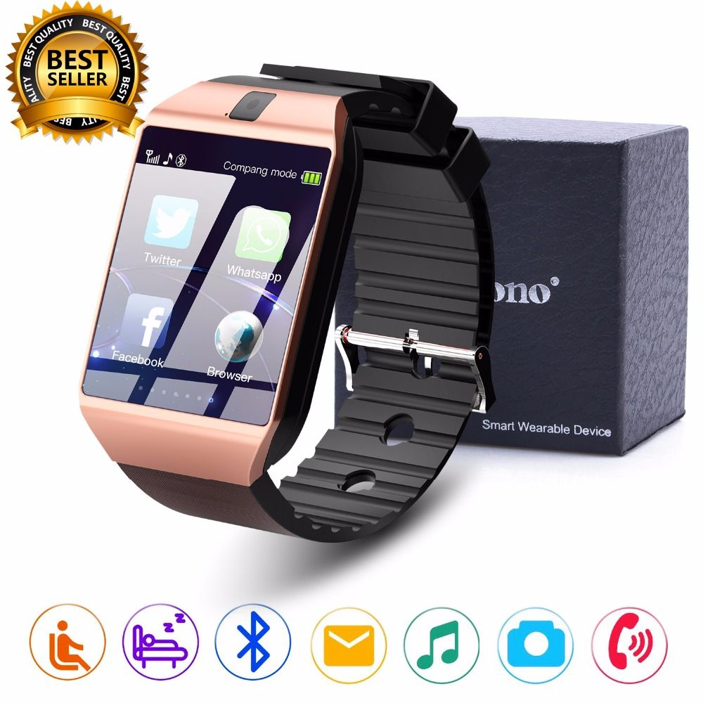 Cawono DZ09 Bluetooth Montre Smart Watch Smartwatch Relogios Montre TF Carte SIM Caméra pour iPhone Samsung Huawei Android Téléphone PK Y1 q18