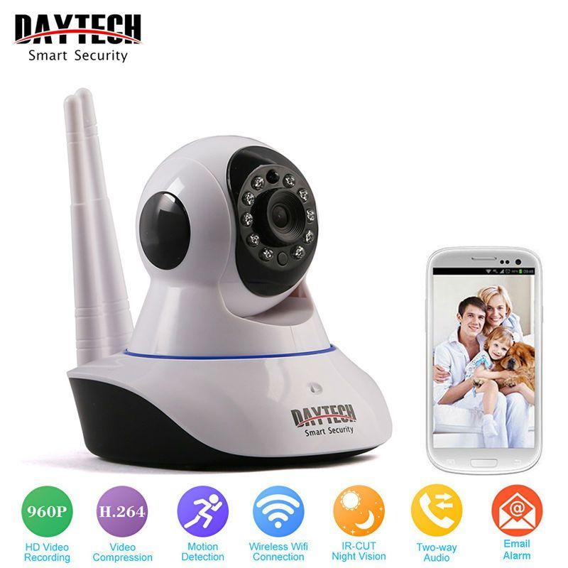 Daytech Wi-Fi Камера IP 960 P охранных Камера Wi-Fi P2P двухстороннее аудио ИК Ночное видение сети Видеоняни и радионяни Беспроводной HD 960 P