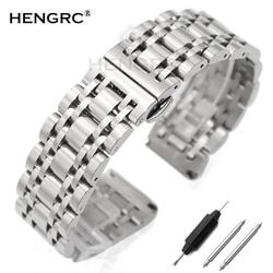 Stainless Steel Gelang Jam Gelang 20 Mm 22 Mm Pria Logam Dipoles Watch Band Tali Jam Aksesoris