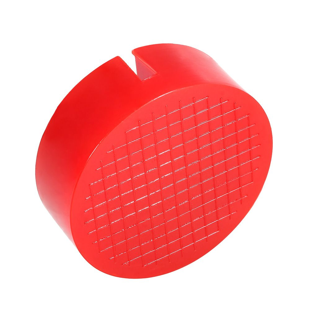 Universal Red Floor Jack Disk Pad Adapter For Pinch Weld Side Lifting Disk