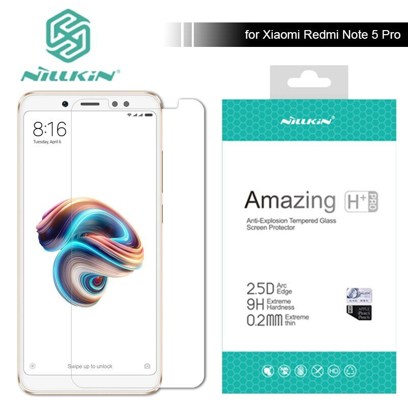 Nillkin pour Xiaomi Redmi Note 5 Pro 9 H/H + Pro Trempé Écran de verre Protecteur 0.2mm Ultra Mince Redmi Note 3 4 5 Nilkin verre