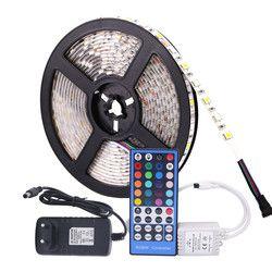 5050 RGB светодиодные полосы водонепроницаемый DC 12 V 5 M RGBW RGBWW светодиодные полосы Гибкие с 3A питанием и пультом дистанционного управления