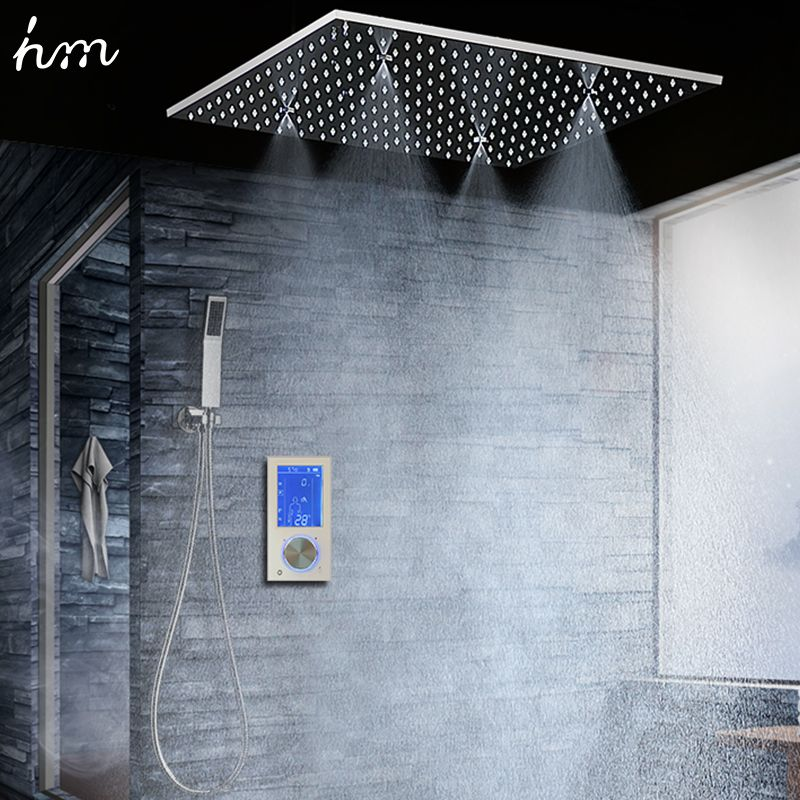 Bathroom Shower Head with 3 Ways Intelligent Digital Concealed Faucet 20