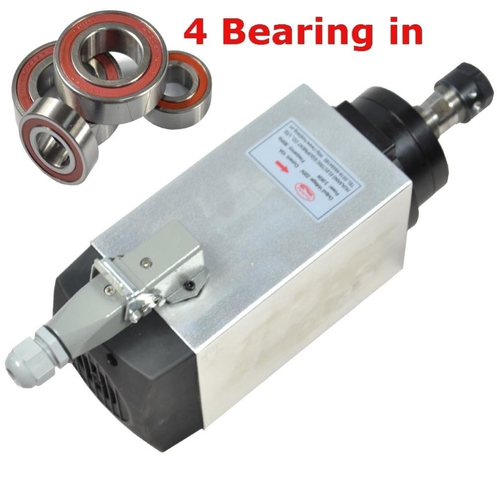 CNC spindle 3KW 18000RPM air cooled SPINDLE MOTOR er20 collet for cnc milling machine